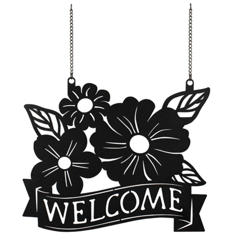 Carson Flowers Welcome Metal Garden Flag