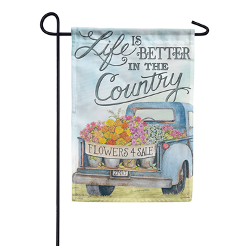 Carson Life is Better in the Country Garden Flag