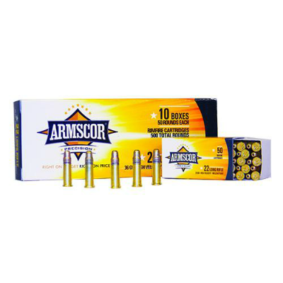Armscor .22 LR 36 Grain High Velocity Hollow Points - 10- 50 Packs