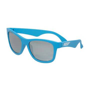 Aces Navigator Babiators Blue/Silver Lens Sunglasses - Ages 6 & up