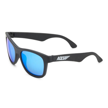 Aces Navigator Babiators Black/Blue Lens Sunglasses - Ages 6 & up