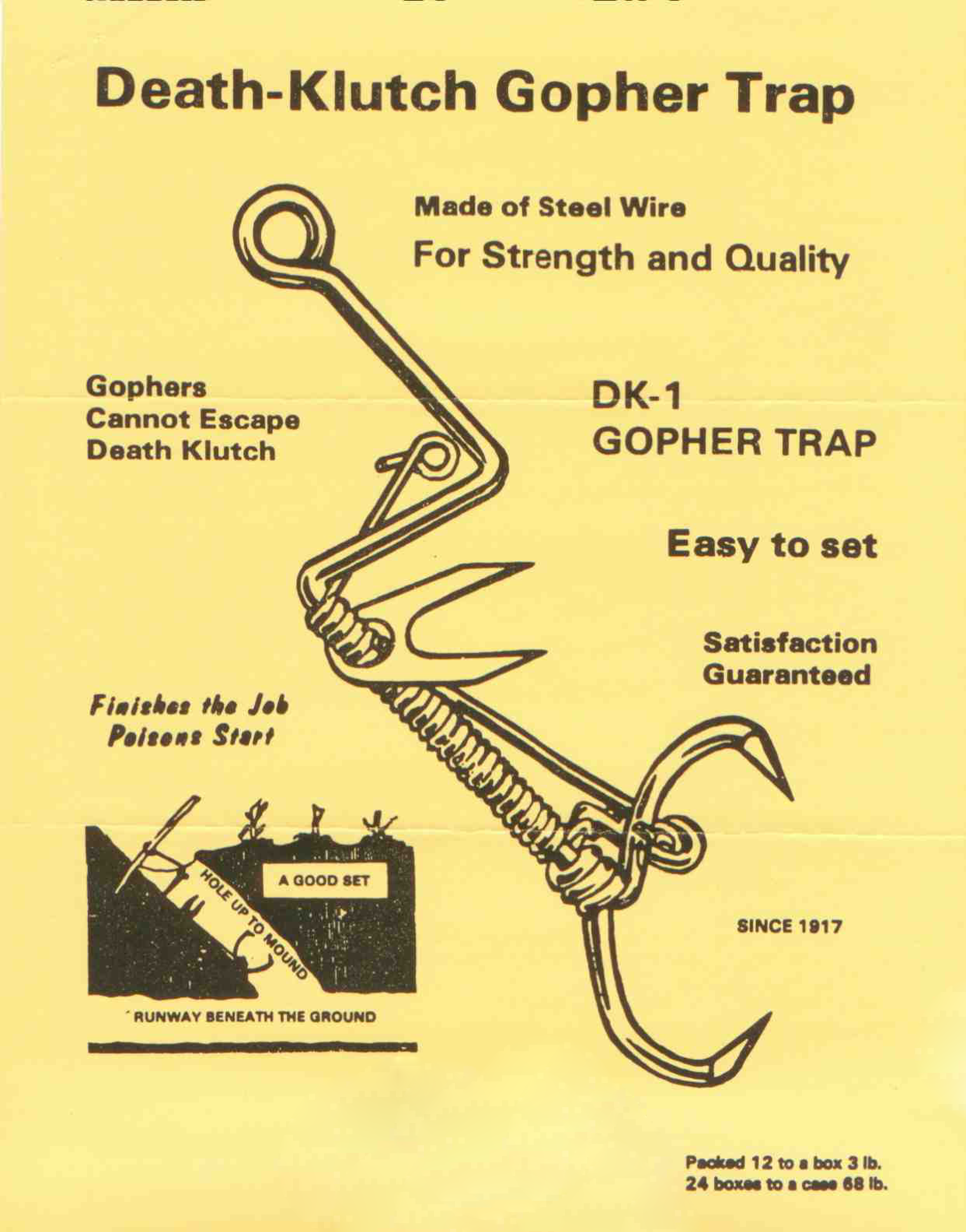 death clutch gopher trap - The Snare Shop