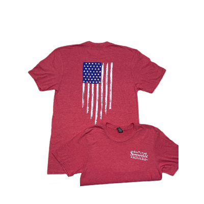 *NEW* Sommerfeld Outfitters USA Flag - Lightweight Blend Tee - Red Heather