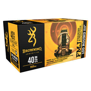 Browning Training & Practice FMJ 40 S&W 165 Gr 100 Rounds