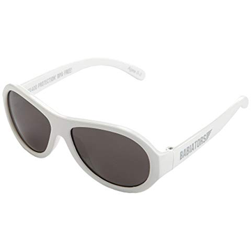 Junior Babiators Aviators Wicked White Sunglasses - Junior Ages 0 - 2