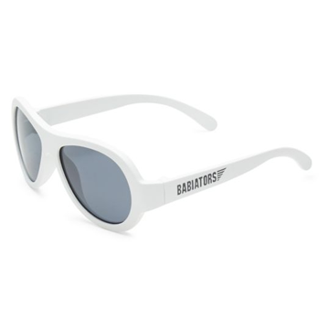 Classic Babiators Aviators Wicked White Sunglasses - Classic Ages 3 - 5