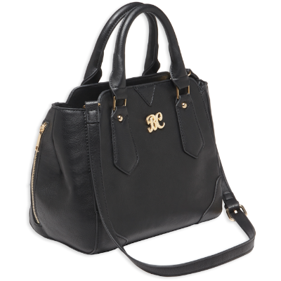Bulldog Concealed Carry Purse - Satchel Black-Black Trim