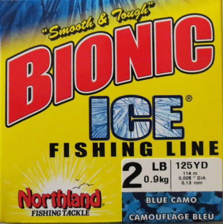 Northland Tackle Bionic Ice Fishing Line - Blue Camo - 125 Yards