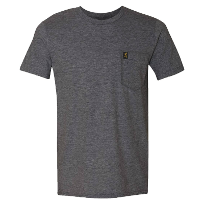 Browning Pocket T-Shirt - Heather Charcoal