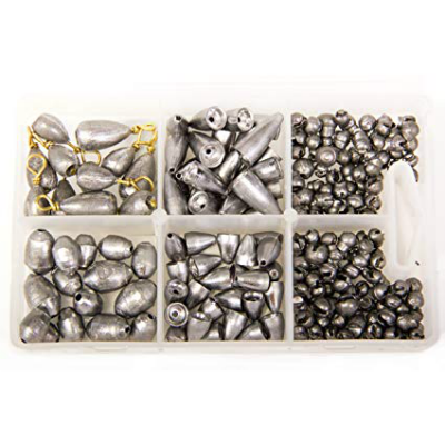 Bullet Weights Assorted Sinker Kit - 215 Pieces