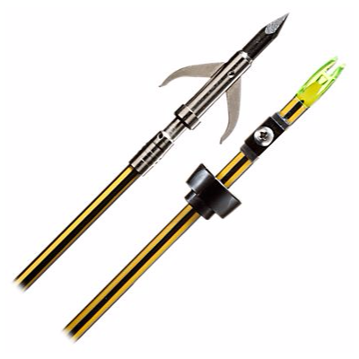 Cajun Bowfishing Yellow Jacket Arrow - Garpoon Tip OUT OF STOCK