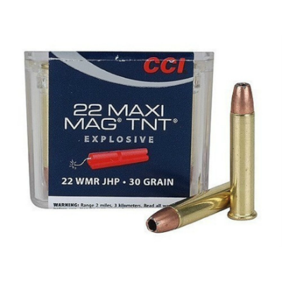 CCI Maxi-Mag .22 WMR 30 Gr TNT Jacketed Hollow Point