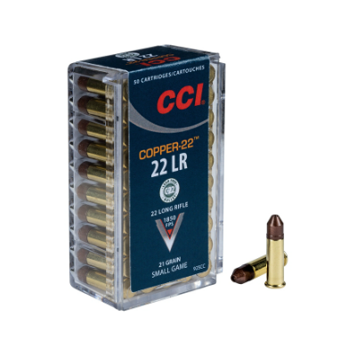 CCI Copper-22 .22 LR 21 Gr Copper Hollow Point - Lead Free