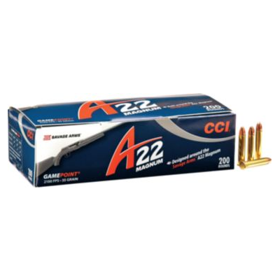 CCI A22 .22 WMR Game Point Ammo - 200 Rounds