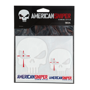 Chris Kyle American Sniper White Decals - 2 Pack