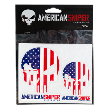 Chris Kyle American Sniper American Flag Decals - 2 Pack