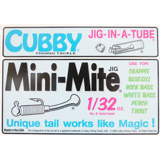 Cubby Mini Mite Jig In A Tube 1/32 oz.