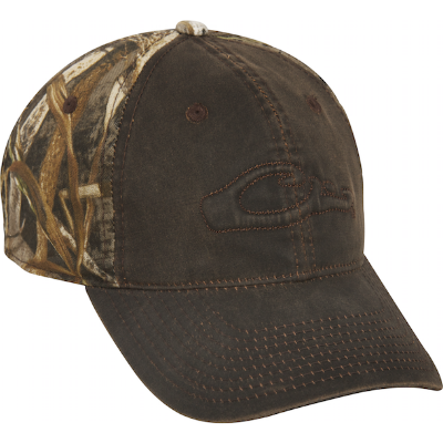 Drake 6-Panel Camo Two-Tone Wax Front Cap - RT Max-5