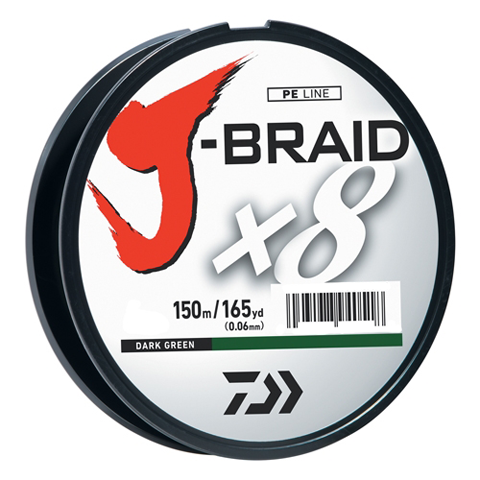 Daiwa J-Braid X8 Braided Line - Dark Green