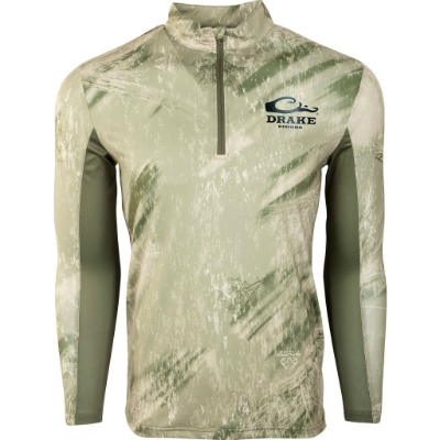Drake Fishing Shield 4 Arched Mesh Back 1/4 Zip