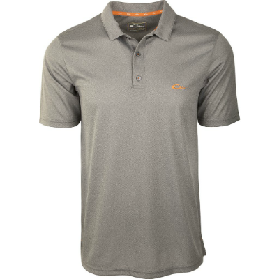 Drake Heathered Polo - Charcoal Heather DISCONTINUED