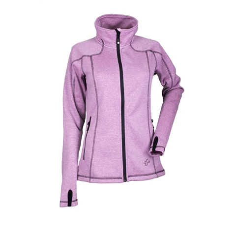 DSG Womens Performance Fleece Jacket Pink Heather/Black DISCONTINUED