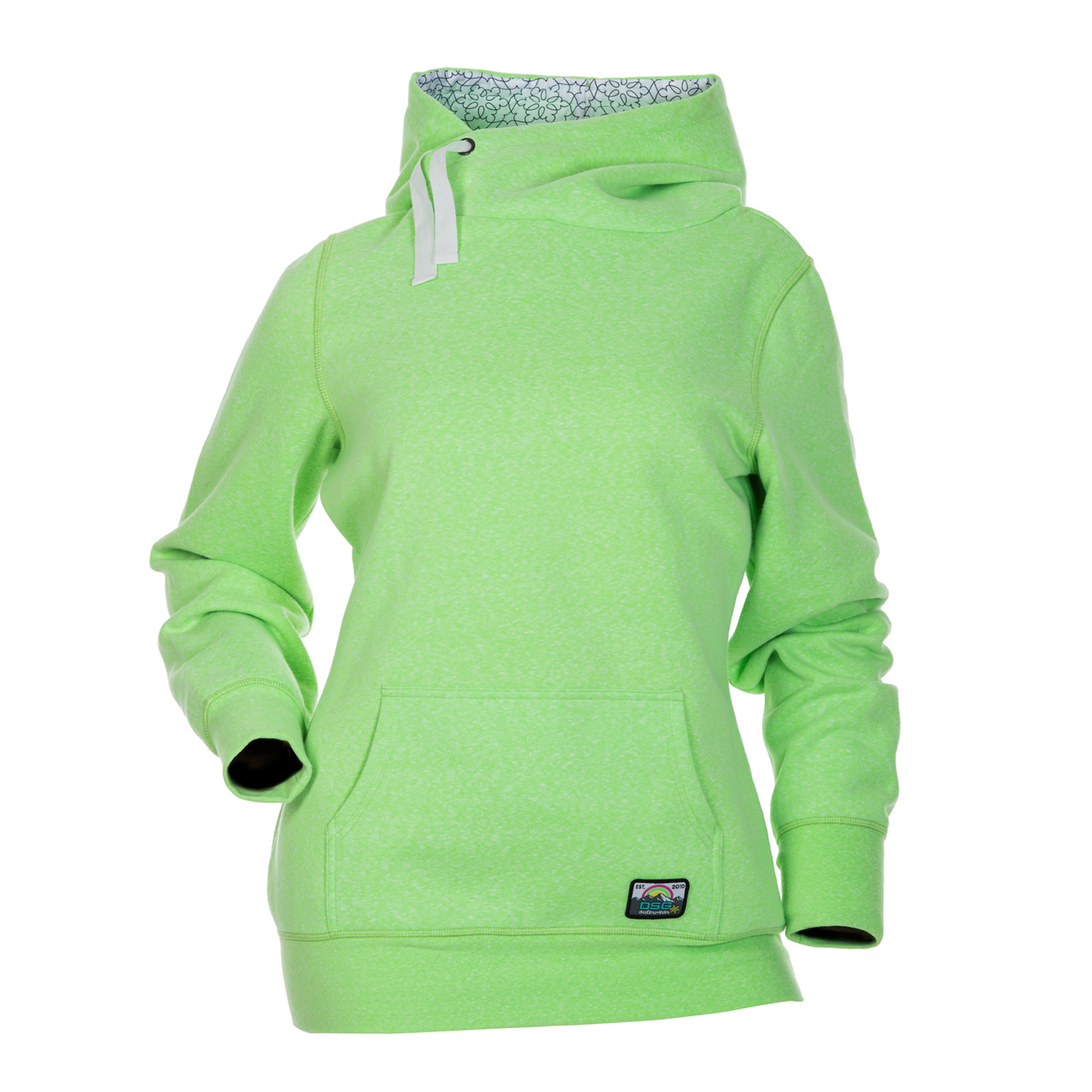 DSG Womens Side Tie Hoodie Green