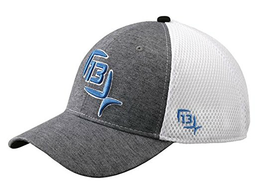 13 Fishing The Duke Flex Fit Hat - Heather With Blue Logo