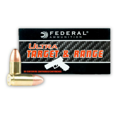 Federal Ultra Target & Range 9mm 115 Gr Full Metal Jacket