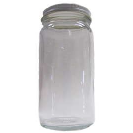 8 oz. Glass Bait Jar with Cap