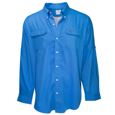 HEYBO® The Boca Grande Long Sleeve Fishing Shirt  Ocean Blue