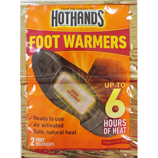 Hot Hands Foot/Toe  Warmers - 2 Packs Per Package