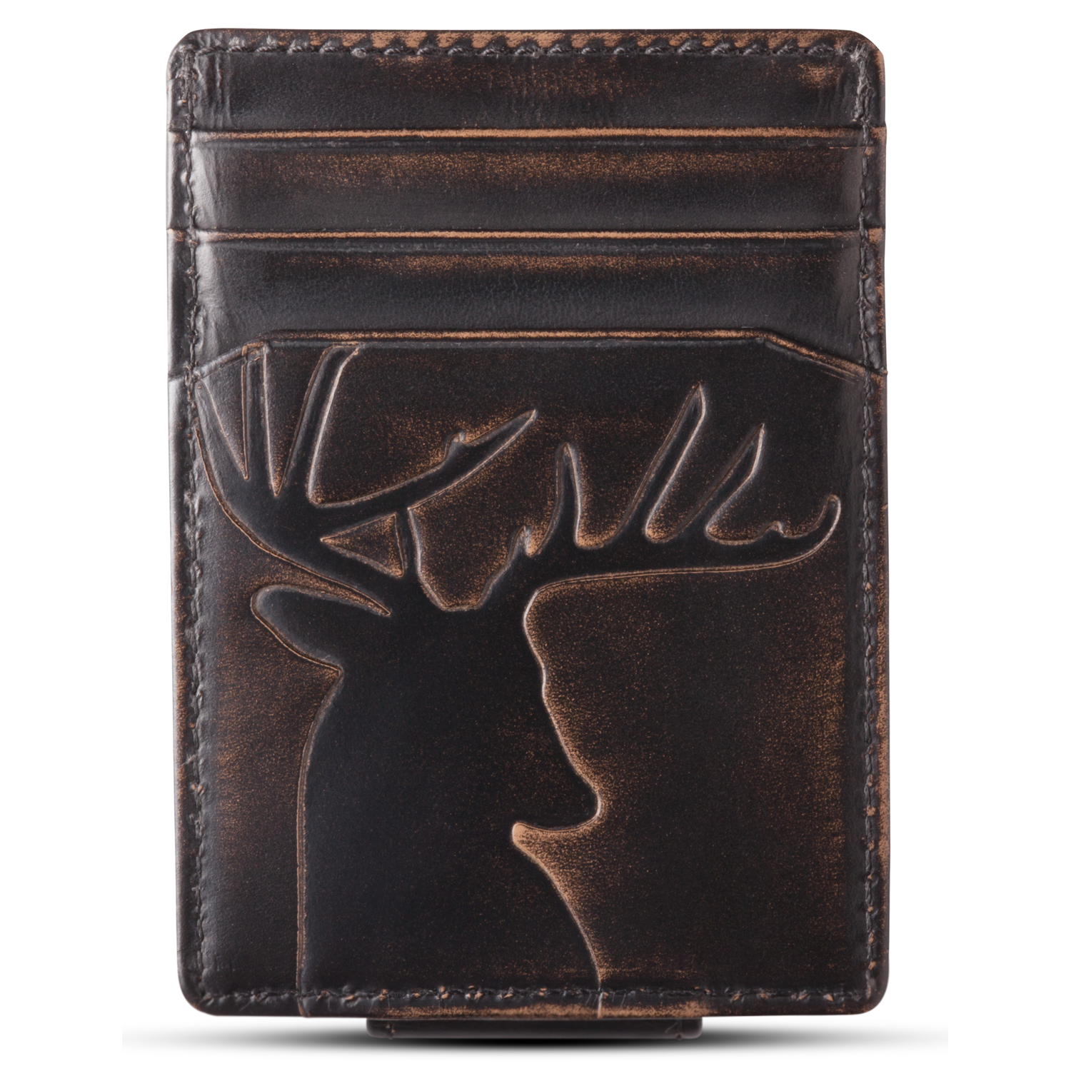 Deer Magnetic Multicard Front Pocket Wallet