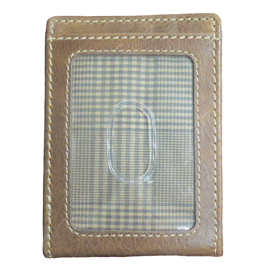 Ivar ID Bifold Front Pocket Wallet in Brown
