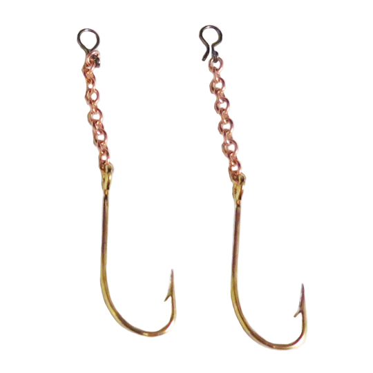Shuck's Red Treble Hook with Chain