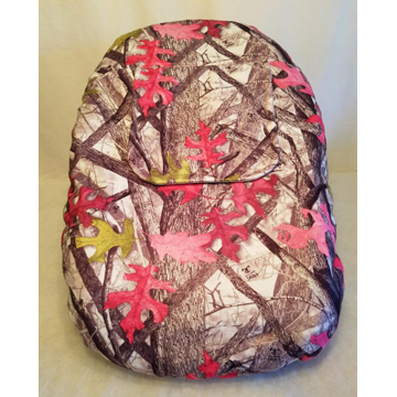 Pink White Camo Car Seat Cover