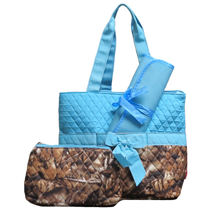 Blue Camo Quilted Bag