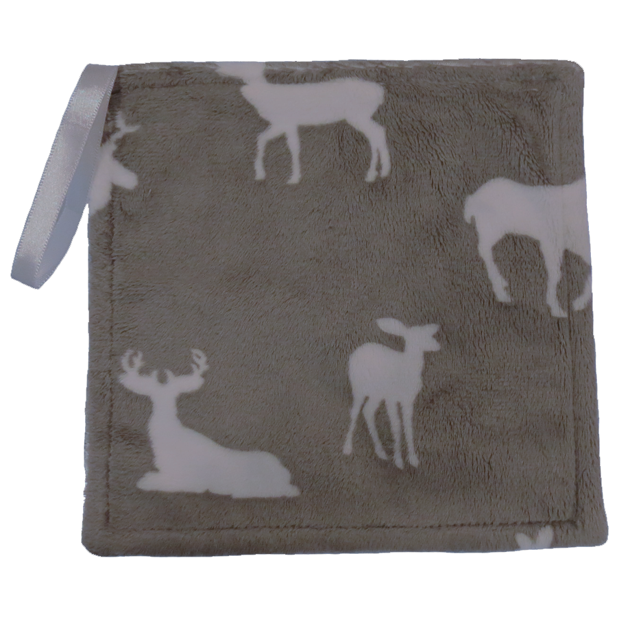 Graphite Deer & Snow White Pacifier Lovey Blanket