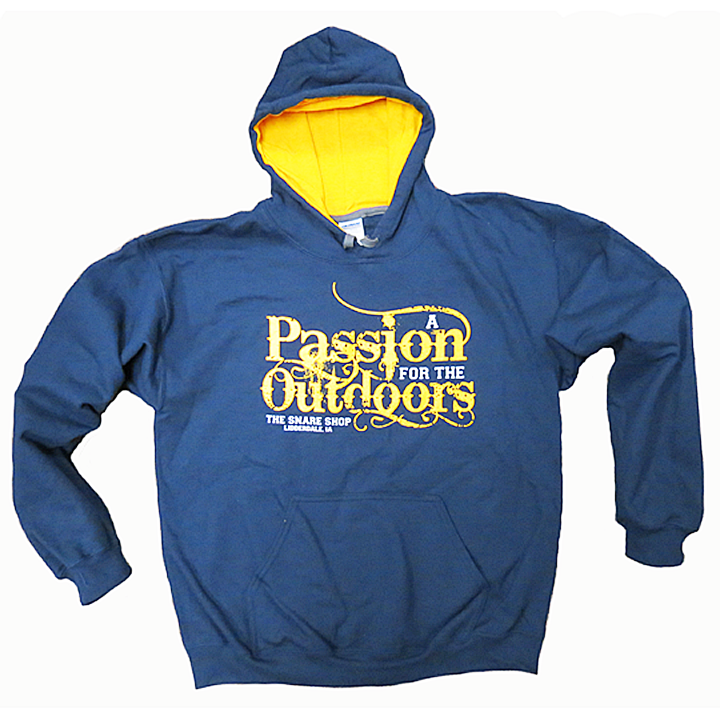 Snare Shop Adult Hooded Sweatshirt - Navy/Yellow- CLEARANCE