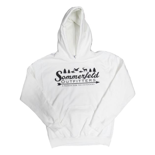 Sommerfeld Outfitters White Hooded Sweatshirt