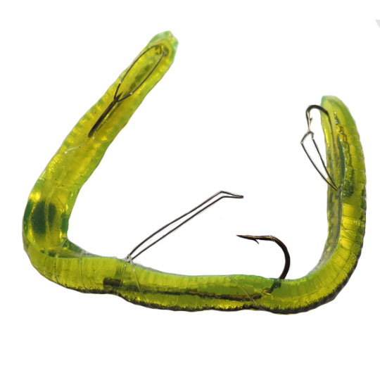 K&E Bass Stopper - Rigged Worm - Anise Scent