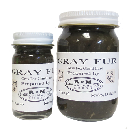 R & M GRAY FUR GLAND LURE * On Clearance