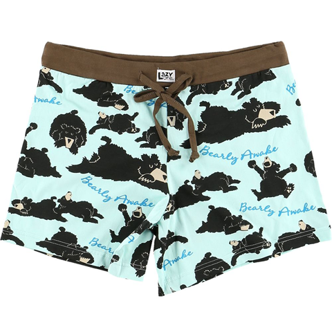 Lazy One Bearly Awake Women's Boxers