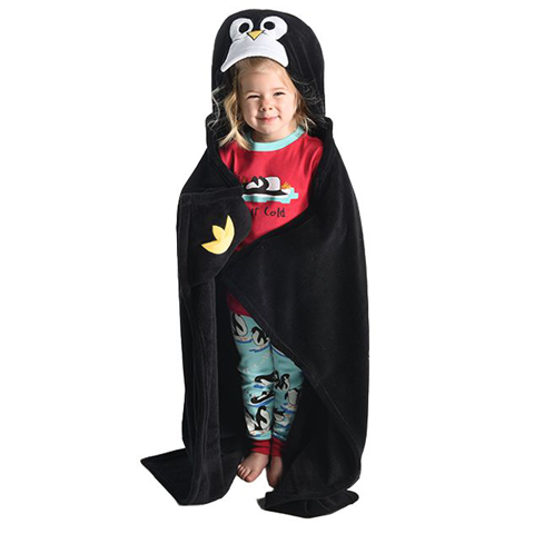 Lazy One Penguin Critter Kids Blanket