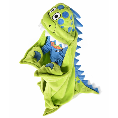 Lazy One Dinosaur Critter Kids Blanket