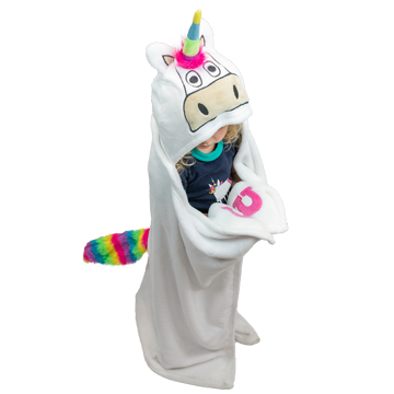 Lazy One Kids Unicorn Critter Blanket