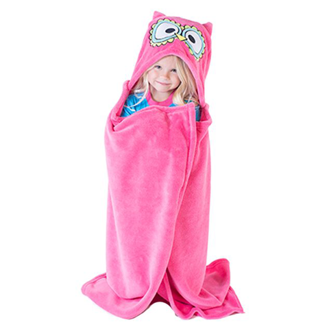Lazy One Owl Critter Kids Blanket