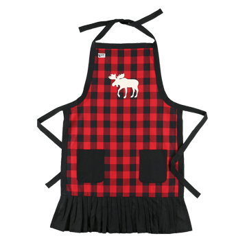 Lazy One Plaid Moose Apron
