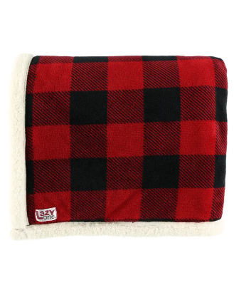 Lazy One Red Plaid Throw Blanket