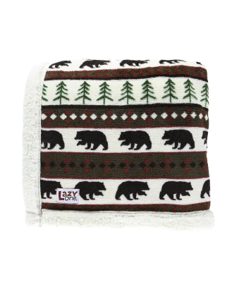 Lazy One Bear Fair Isle Throw Blanket